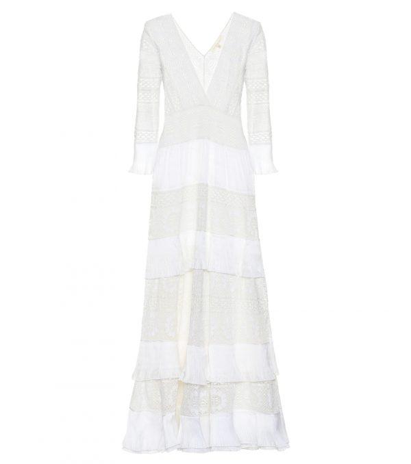 Bridal Lennon embroidered maxi dress