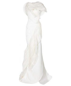Bridal Serene organza-trimmed gown