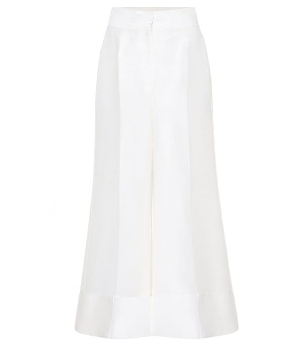 Bridal wool-blend trousers