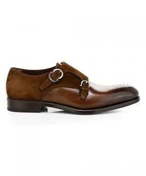 Brighton Double Monk Strap Leather Dress Shoes