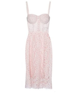 Bustier lace midi dress