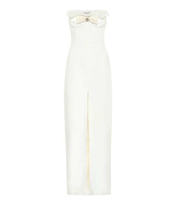 Cady strapless gown