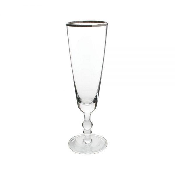 Canvas Home - Camden Champagne Flute - Platinum