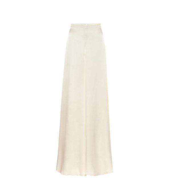 Castalia silk-satin bridal pants