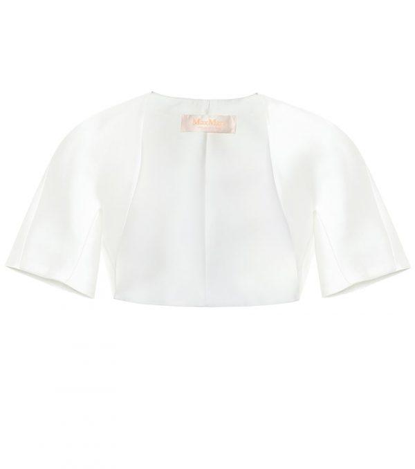 Chicco duchess-satin bridal jacket