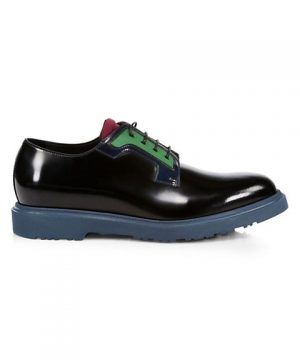 Colorblock Patent Leather Dress Shoes