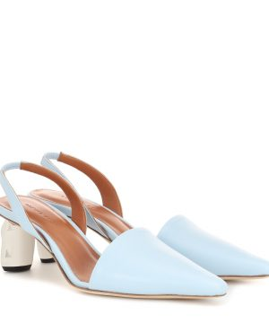 Conie leather slingback pumps