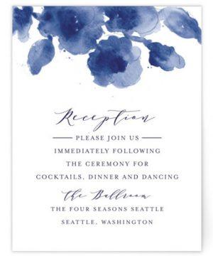 Cornflower Wedding Reception Cards
