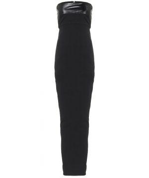 Cotton-blend jersey maxi dress