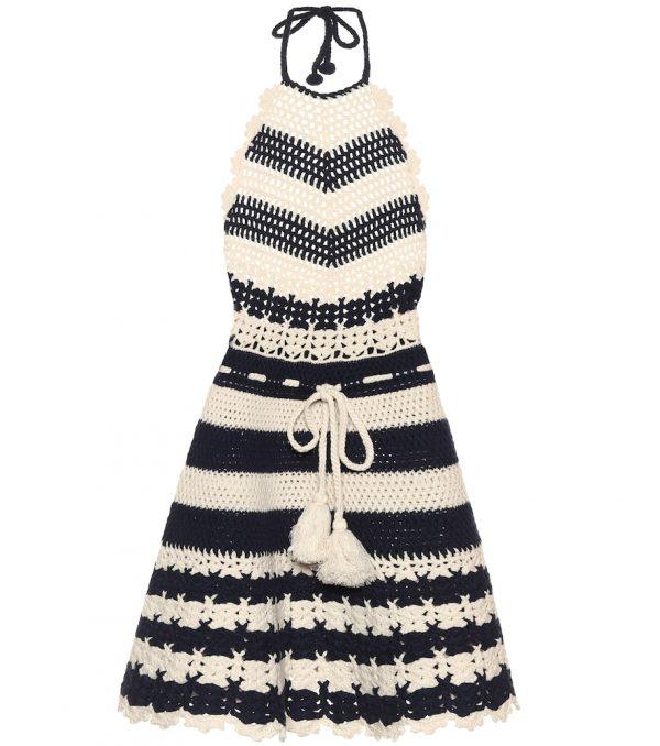 Crochet wool dress