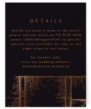 Dazzling Foil-Pressed Direction Cards