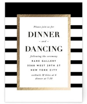 Editorial Chic Foil-Pressed Reception Cards