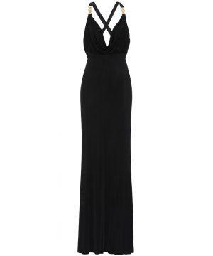 Embellished satin gown