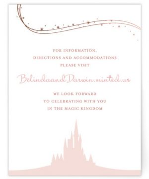 Enchanted Stars Foil-Pressed Direction Cards