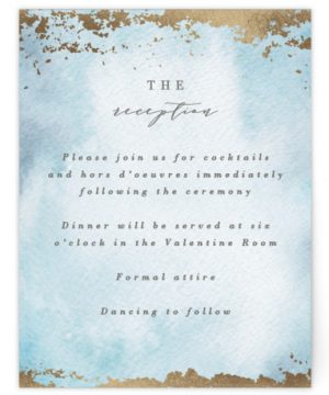Ethereal Wash Foil-Pressed Reception Cards