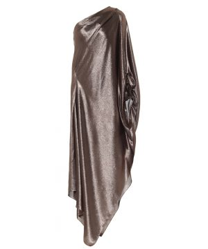 Exclusive to Mytheresa - Ritts one-shoulder silk-blend draped gown