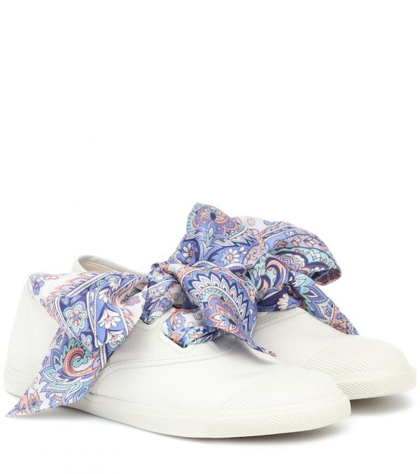 Exclusive to Mytheresa - Scarf-tie canvas sneakers