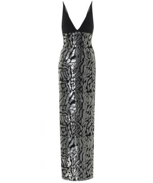 Exclusive to Mytheresa - Sequined crêpe gown