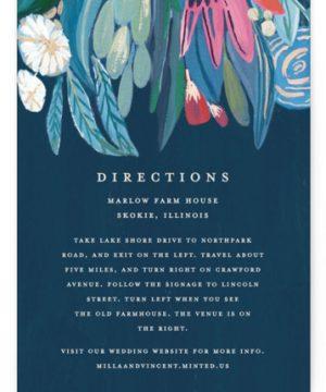 Floral Burst Directions Cards