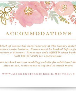 Floral Vignette Directions Cards