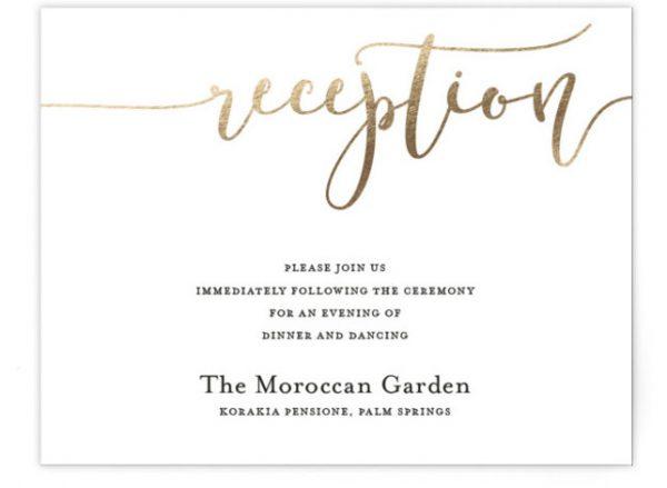 Forever Love Foil-Pressed Reception Cards