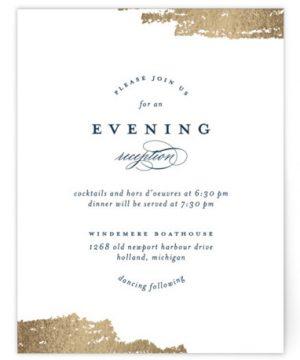 Gala Foil-Pressed Reception Cards