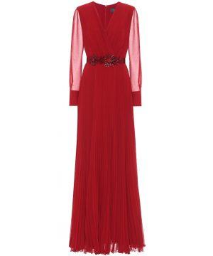 Genarca georgette sablé dress