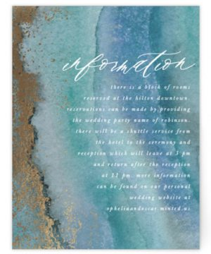 Gilded Sea Foil-Pressed Direction Cards