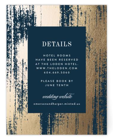 Gold Leaf Foil-Pressed Direction Cards