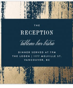 Gold Leaf Foil-Pressed Reception Cards