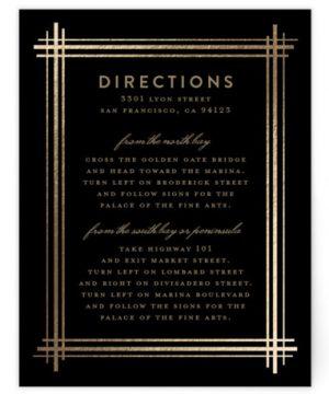 Grand Affair Foil-Pressed Direction Cards