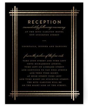 Grand Affair Foil-Pressed Reception Cards