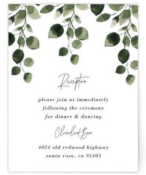 Green Rush Reception Cards