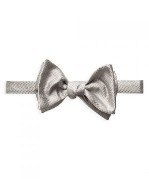 Grey Metallic Bow Tie