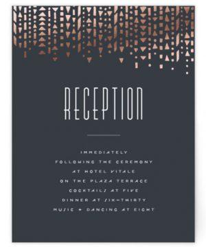 Handdrawn Geometrics Foil-Pressed Reception Cards