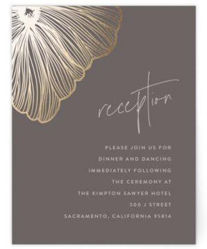 In Script Foil-Pressed Reception Cards