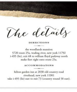 Inkblot Foil-Pressed Direction Cards