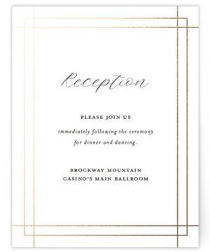 Interlace Foil-Pressed Reception Cards