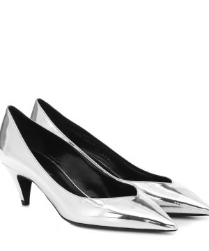Kiki 55 metallic leather pumps