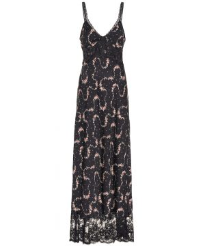 Lace trimmed maxi dress