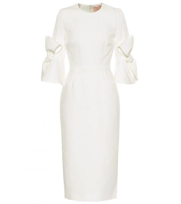Lavete bonded crêpe bridal dress