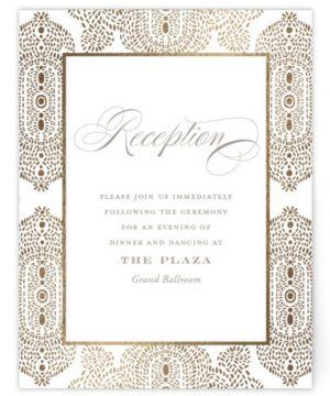 Lavish Affair Foil-Pressed Reception Cards