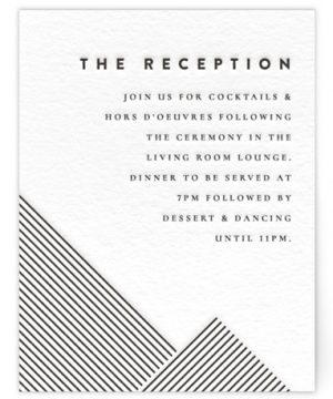 Lined Letterpress Reception Cards