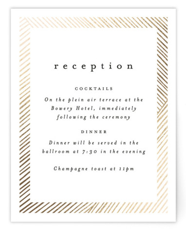 Lineup Foil-Pressed Reception Cards