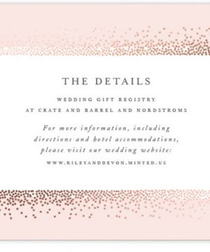 Love Story Foil-Pressed Direction Cards