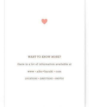 Love Struck Letterpress Directions Cards