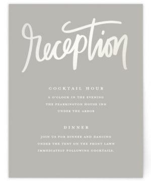 Lovely Script Reception Cards