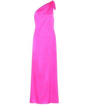Lucy silk-satin one-shoulder dress