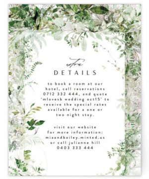 Lush Greenery Directions Cards