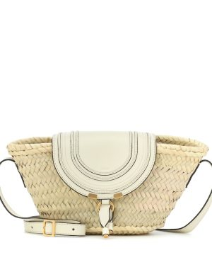 Marcie Small raffia crossbody bag